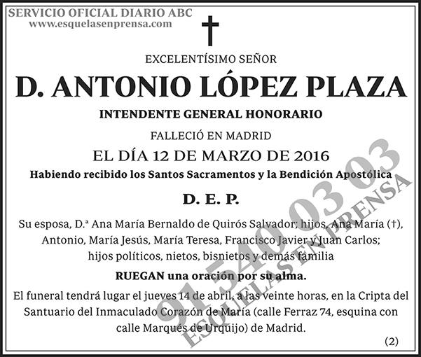 Antonio López Plaza